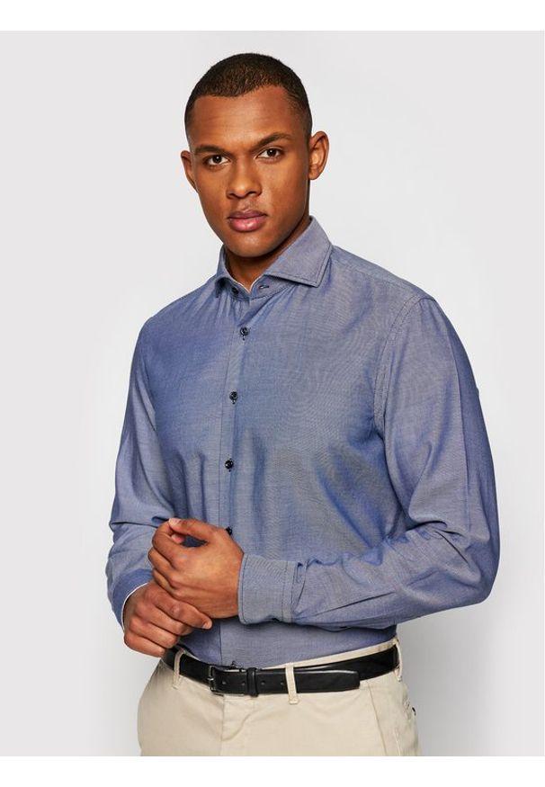 Baldessarini Koszula Henry B3 10003/000/3025 Granatowy Tailored Fit. Kolor: niebieski