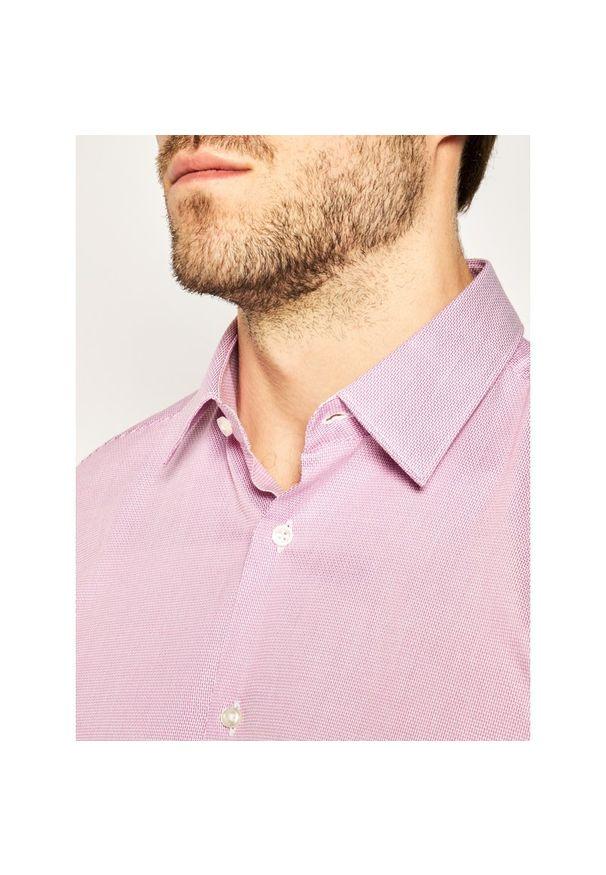 Różowa koszula casual BOSS