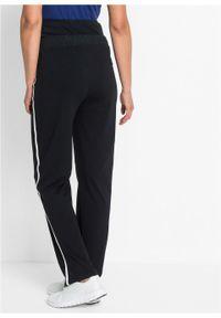 Spodnie dresowe ciążowe bonprix czarny. Kolekcja: moda ciążowa. Kolor: czarny. Materiał: dresówka