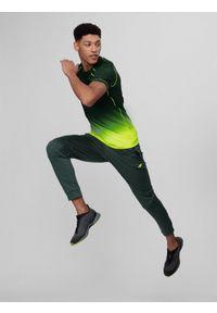 Zielone spodnie sportowe 4f na fitness i siłownię