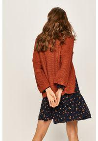 Brązowy sweter rozpinany ANSWEAR