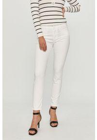 Białe jeansy Love Moschino gładkie