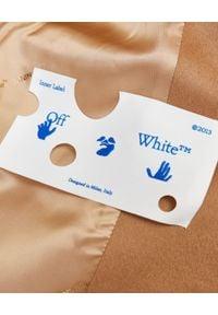 OFF-WHITE - Wełniany płaszcz w kolorze nude. Kolor: beżowy. Materiał: wełna. Wzór: aplikacja. Styl: elegancki, sportowy #5