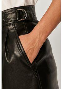 Czarne spodnie materiałowe Sportmax Code z podwyższonym stanem