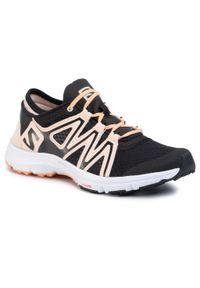 Czarne buty do fitnessu salomon z cholewką, na co dzień