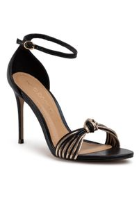 Czarne sandały Eva Longoria eleganckie