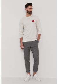 Sweter Hugo długi, casualowy, gładki
