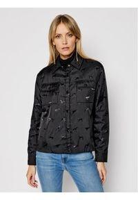 Trussardi Jeans - Trussardi Kurtka puchowa 56S00585 Czarny Regular Fit. Kolor: czarny. Materiał: puch