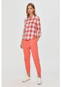 Czerwona koszula Polo Ralph Lauren z długim rękawem, długa, klasyczna, na co dzień