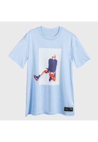 TARMAK - Koszulka DO KOSZYKÓWKI TS500 FAST REVERSE DUNK MĘSKA. Kolor: niebieski. Materiał: poliester, materiał. Sport: koszykówka