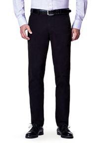 Lancerto - Spodnie Czarne Chino Nestor. Kolor: czarny. Materiał: elastan, bawełna, materiał. Wzór: kolorowy. Styl: sportowy