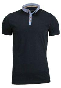 Niebieski t-shirt Brave Soul na co dzień, polo, casualowy