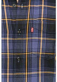 Niebieska koszula Levi's® długa, z długim rękawem, na spotkanie biznesowe, z klasycznym kołnierzykiem