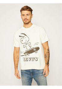 Levi's® Bluza PEANUTS® Crew Sweatshirt 85882-0002 Biały Regular Fit. Kolor: biały