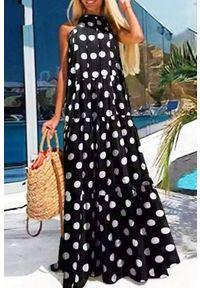 Długa sukienka IVET na co dzień, casualowa, w kropki
