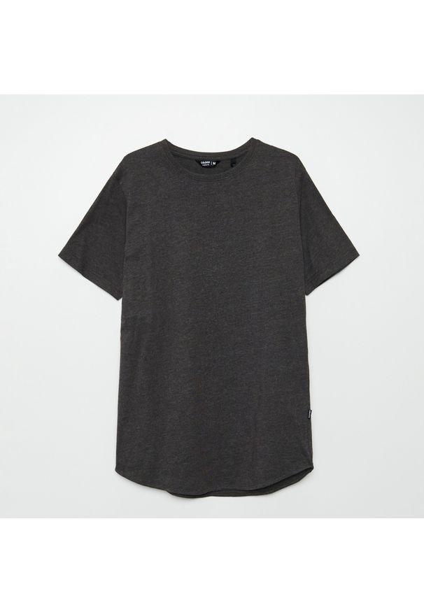 Cropp - Koszulka basic longline - Szary. Kolor: szary