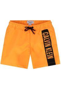 Pomarańczowe kąpielówki Calvin Klein Swimwear