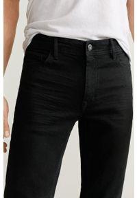 Szare jeansy Mango Man w kolorowe wzory