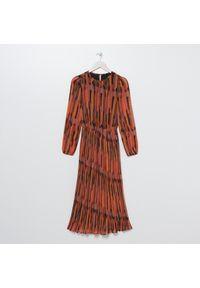 Czerwona sukienka Sinsay maxi