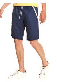 Niebieskie szorty TOP SECRET na lato, wakacyjne, z haftami