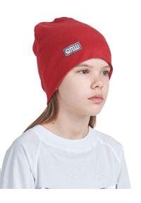 ROBERT KUPISZ - Czerwona czapka KIDS BEANIE. Kolor: czerwony. Materiał: wełna, puch. Wzór: aplikacja