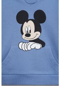 Niebieska bluza Mango Kids casualowa, z nadrukiem, na co dzień