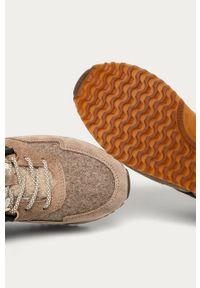 Brązowe buty sportowe GANT na średnim obcasie, na obcasie, z cholewką