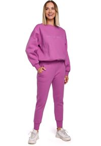 Fioletowe spodnie dresowe MOE