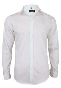 Biała elegancka koszula Bello z długim rękawem, do pracy