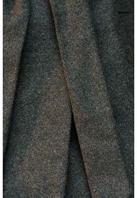 Marie Zélie - Płaszcz wełniany Adela ciemnozielony. Kolor: zielony. Materiał: wełna. Długość rękawa: długi rękaw. Długość: krótkie. Wzór: motyw zwierzęcy, ze splotem. Sezon: zima #8