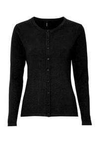 Czarny sweter Soyaconcept klasyczny, z klasycznym kołnierzykiem