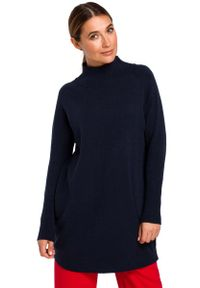 Niebieski długi sweter MOE
