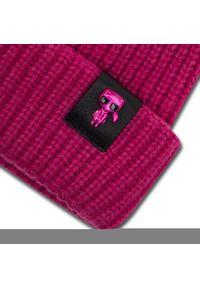 Różowa czapka zimowa Karl Lagerfeld