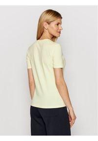Max Mara Leisure T-Shirt Vagare 39710116 Żółty Regular Fit. Kolor: żółty