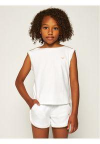 Emporio Armani Komplet top i spodenki 3H3V07 1J46Z 0100 Biały Regular Fit. Kolor: biały