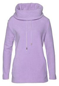 Fioletowy sweter bonprix ze stójką