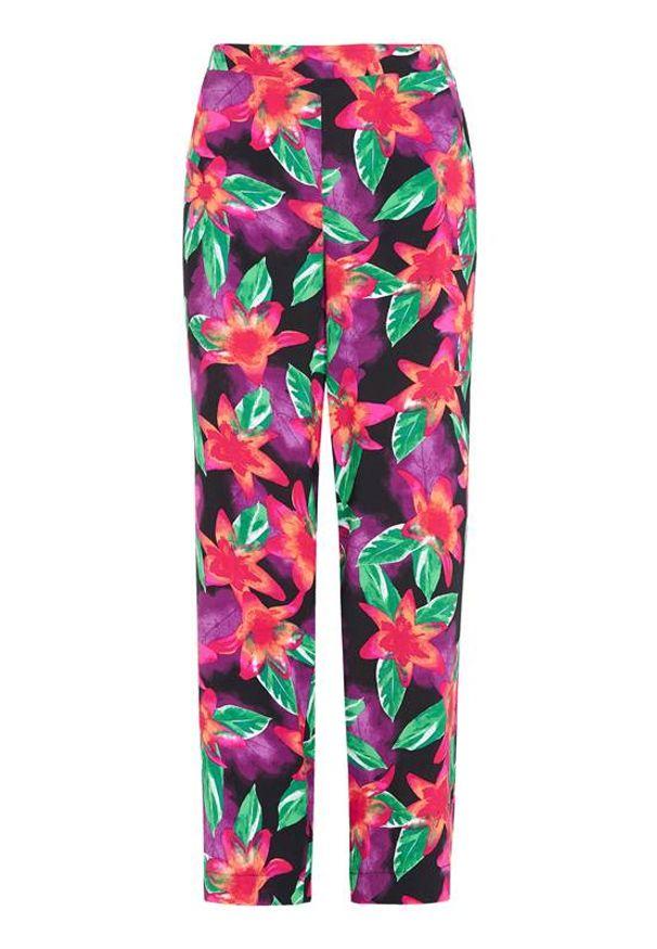 Spodnie Cellbes w kolorowe wzory, z podwyższonym stanem