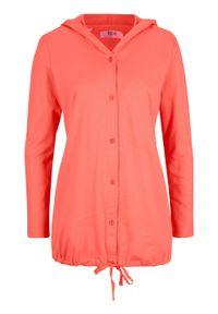 Czerwona bluzka bonprix z kapturem