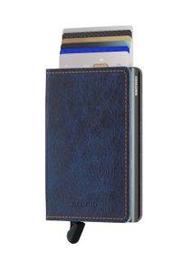 Niebieski portfel Secrid