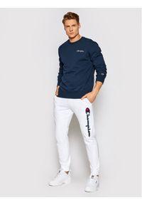 Champion Bluza Small Script Logo 215931 Granatowy Comfort Fit. Kolor: niebieski