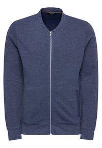 Jack & Jones - Jack&Jones PREMIUM Bluza Blaflake Sweat Baseball Bomber 12190138 Granatowy Regular Fit. Kolor: niebieski