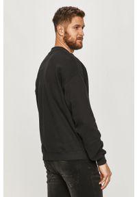 Czarna bluza nierozpinana Calvin Klein Jeans bez kaptura, z nadrukiem