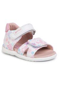 Białe sandały Garvalin na lato