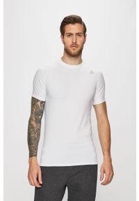 Biały t-shirt Reebok z okrągłym kołnierzem