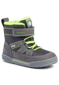 Szare buty zimowe Primigi z cholewką