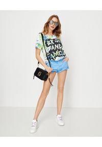 ONETEASPOON - Koszulka Broke and Famous. Kolor: zielony. Materiał: bawełna, jeans. Wzór: napisy, nadruk. Sezon: lato. Styl: vintage #3