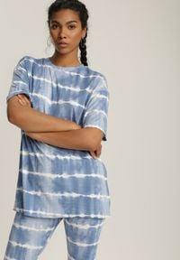 Renee - Niebieski 2-Częściowy Komplet Dresowy Absyrobus. Kolor: niebieski. Materiał: dresówka