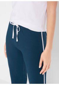 Niebieskie spodnie bonprix sportowe