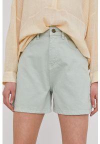 Answear Lab - Szorty jeansowe. Okazja: na co dzień. Kolor: turkusowy. Materiał: jeans. Styl: wakacyjny