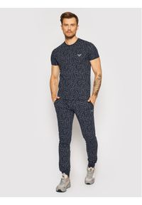 Emporio Armani Underwear T-Shirt 110853 1P566 15735 Granatowy Regular Fit. Kolor: niebieski